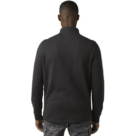 Prana Cardiff T-shirt Manches longues Zip 1/4 Homme, charcoal heather